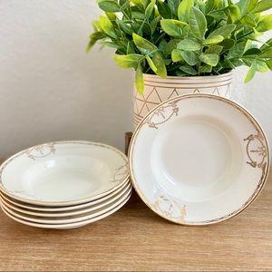 Vintage Salem China 23 Karat Gold Trim 6 Plates